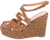 Sergio Rossi Canvas Wedge Sandals