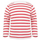 Petit Bateau Red and white mariniere sweater