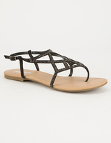 Soda Sunglasses Caged Bling Womens Sandals