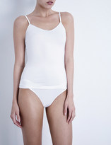 Bodas V-neck stretch-cotton camisole