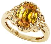 Tommaso design Studio Tommaso Design Oval 10x8mm Genuine Citrine and Diamond Ring 14k Size 7.5