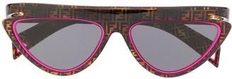 Fendi Eyewear FFluo cat-eye frame sunglasses