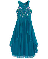 Sequin Hearts Embellished-Bodice Maxi Dress, Big Girls (7-16)