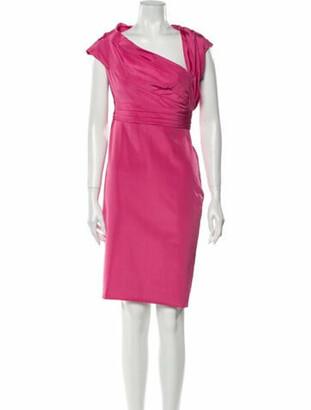 Valentino Asymmetrical Knee-Length Dress Pink
