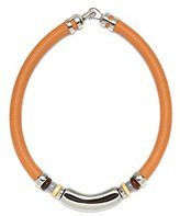 Lizzie Fortunato Saddle Necklace in Tangerine of 47cm