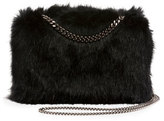 Stella McCartney Faux-Fur Chain Clutch Bag, Black