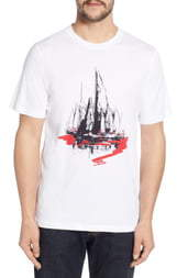 Bugatchi Regular Fit Graphic T-Shirt