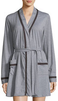 Cosabella Hustle Contrast-Trim Short Robe