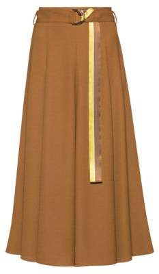 HUGO Midi skirt in midweight fabric with striped belt