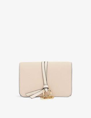 Chloé ABC grained leather flap wallet
