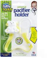 Baby Buddy Universal Pacifier Holder, Yellow with White Stitch by