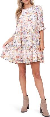 En Saison Eyelet Babydoll Dress