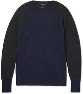 Nigel Cabourn - Two-tone Boiled Wool Sweater