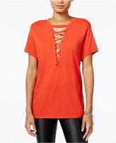 GUESS Lace-Up LA Graphic T-Shirt