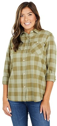 Burton Grace Flannel (Castlerock Heather Buffalo Plaid) Women's Clothing
