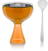 "Alessi Big Love"" Ice Cream Bowl & Spoon-Orange"
