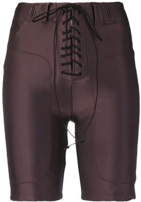 Unravel Project lace-up cycling shorts