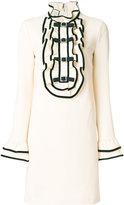 Gucci ruffled bib dress