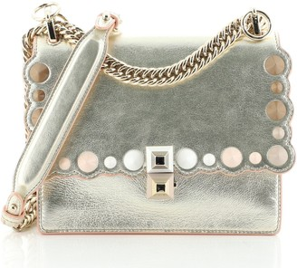 Fendi Kan I Bag Studded Leather Small