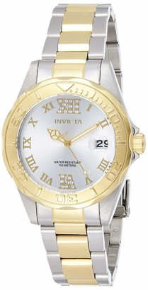 Invicta 12852 Pro Diver Women's Wrist Watch Stainless Steel Quartz Silver Dial