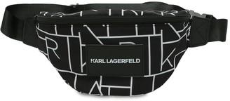 Karl Lagerfeld Paris All Over Print Nylon Belt Bag