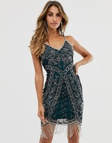 Frock and Frill beaded fringe cami dress mini dress