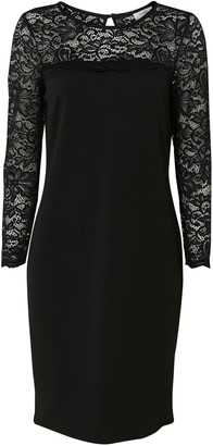 Wallis PETITE Black Lace Shift Dress