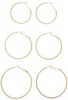 Forever 21 Metallic Hoop Earring Set