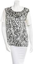 Giambattista Valli Leopard Patterned Short Sleeve Top