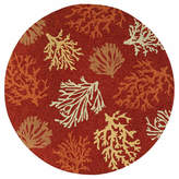 Couristan Outdoor Escapes Sea Reef Hooked Round Rugs