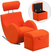 Viv + Rae Everett Kids Rocking Chair and Ottoman with Storage Compartment Upholstery Type -