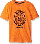U.S. Polo Assn. Toddler Boys Flocked Logo Print T-shirt