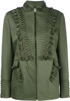 Ermanno Scervino embroidery detail jacket - women - Cotton/Polyamide/Spandex/Elastane/Lyocell - 38