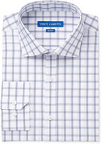 Vince Camuto Men's Slim-Fit Indigo/White Windowpane Dress Shirt