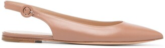 Gianvito Rossi Pointed Slingback Ballerina Shoes