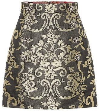 Dolce & Gabbana Cotton-blend brocade miniskirt