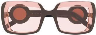 Marni clear square frame sunglasses