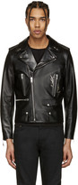 Saint Laurent Black Classic Monogram Motorcycle Jacket