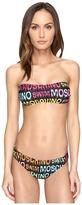 Moschino Print Bandeau Bikini Set Women's Swimwear Sets