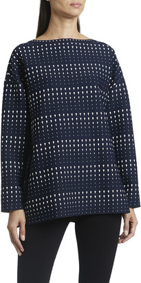 Alaia Dotted Stripe Long-Sleeve Tunic
