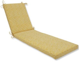George Oliver Indoor/Outdoor Chaise Lounge Cushion Fabric: Yellow