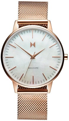 MVMT Womens Analogue Quartz Watch with Gold Tone Stainless Steel Strap D-MB01-RGPL