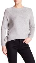 John & Jenn Long Sleeve Knit Side Lace-Up Sweater