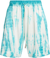 Just Don JUST DON Tie Dye Silk Shorts