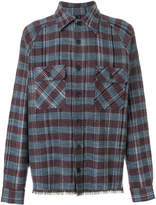 Missoni frayed trim checked shirt