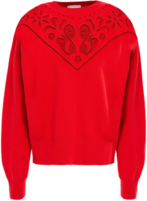 Sandro Broderie Anglaise Wool-blend Sweater