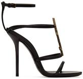 Saint Laurent Black Cassandra 110 Heels