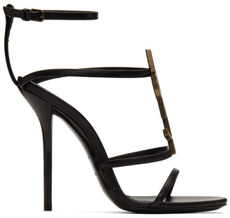 Saint Laurent Black Cassandra 110 Heels