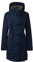 Lands' End Women's Plus Size Squall Duffle Coat-Deep Scarlet