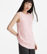 LOFT Lou & Grey Stitchy Sleeveless Sweater Tunic